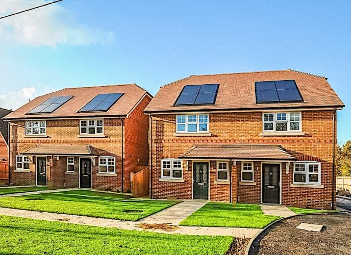 solar panels for new builds and developments