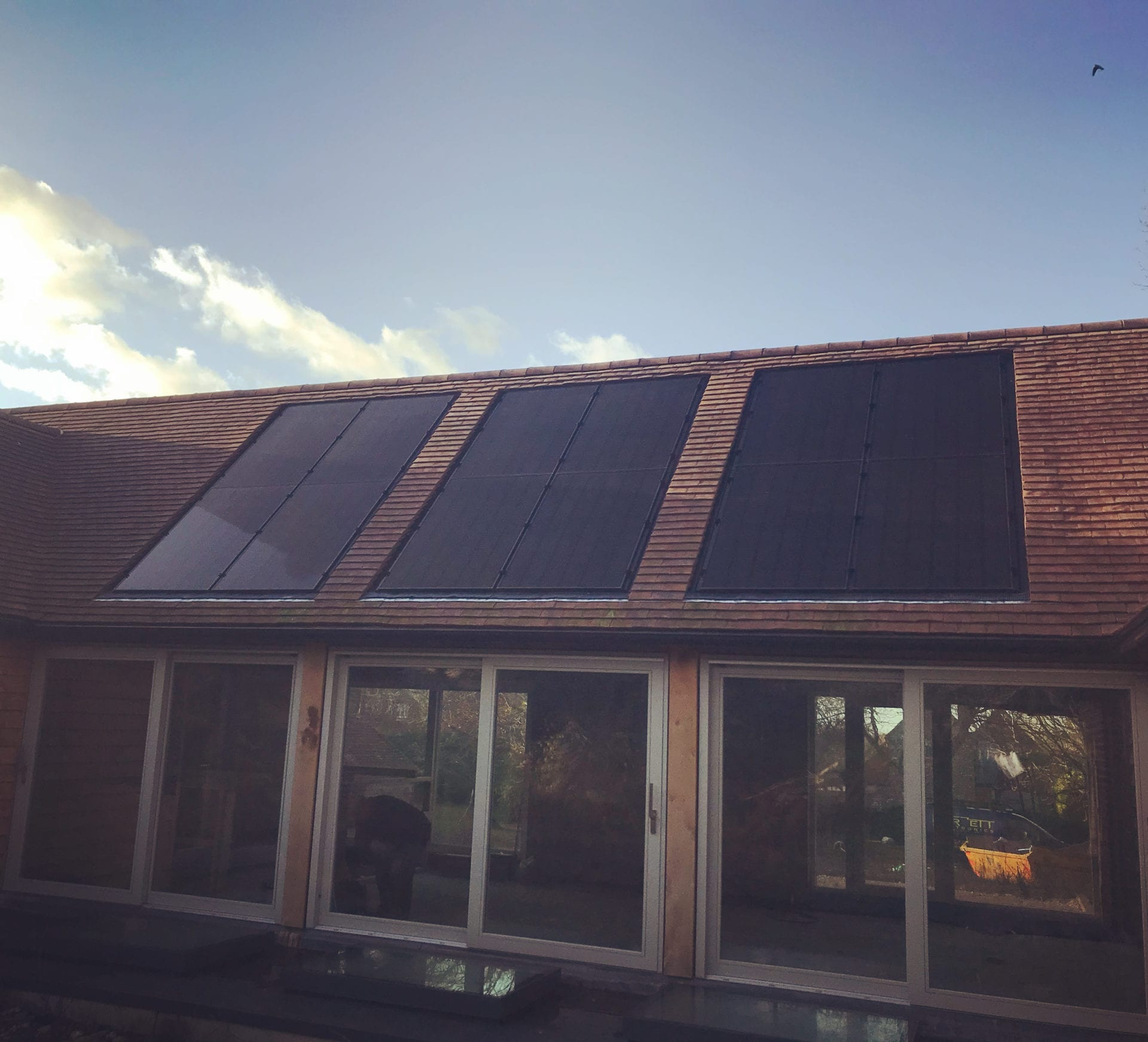 solar panels in-roof installed in lewes