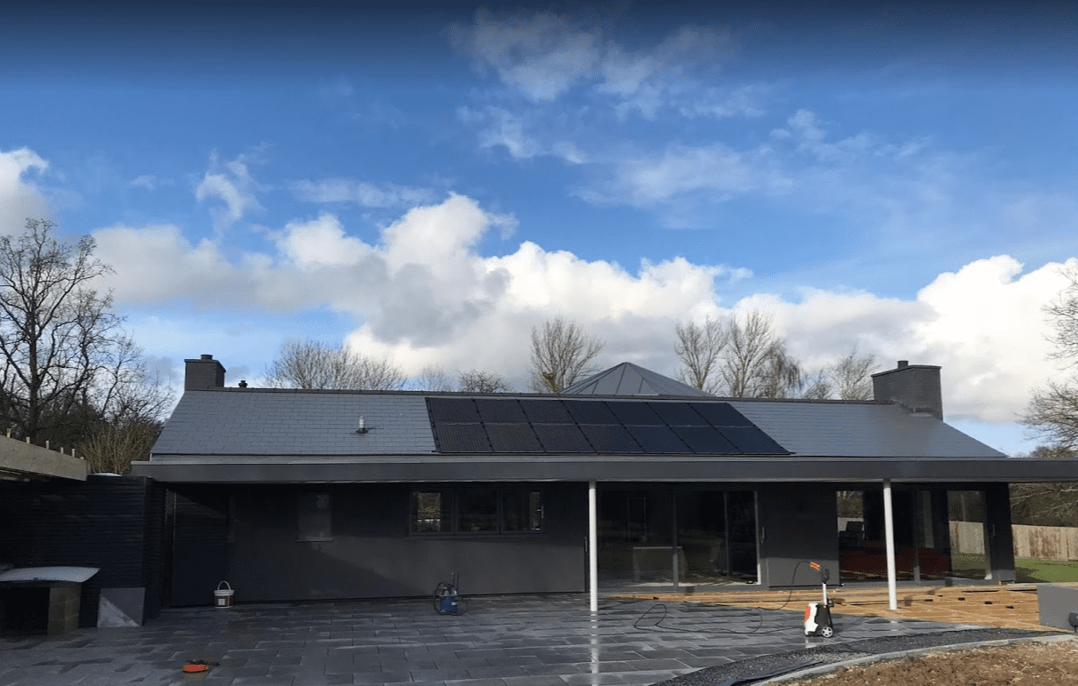 solar panels installed in-roof